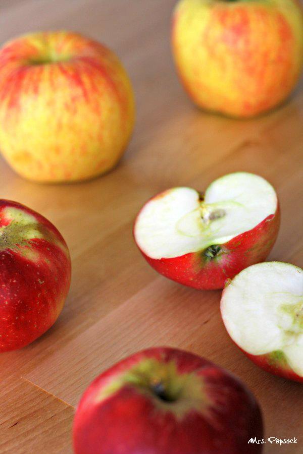 Erdbeeräpfelhälften