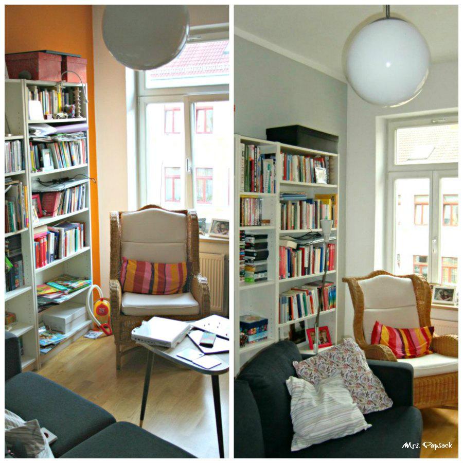 Neue Farbe Fr Die Wnde Kleines Make Over Des Wohnzimmers