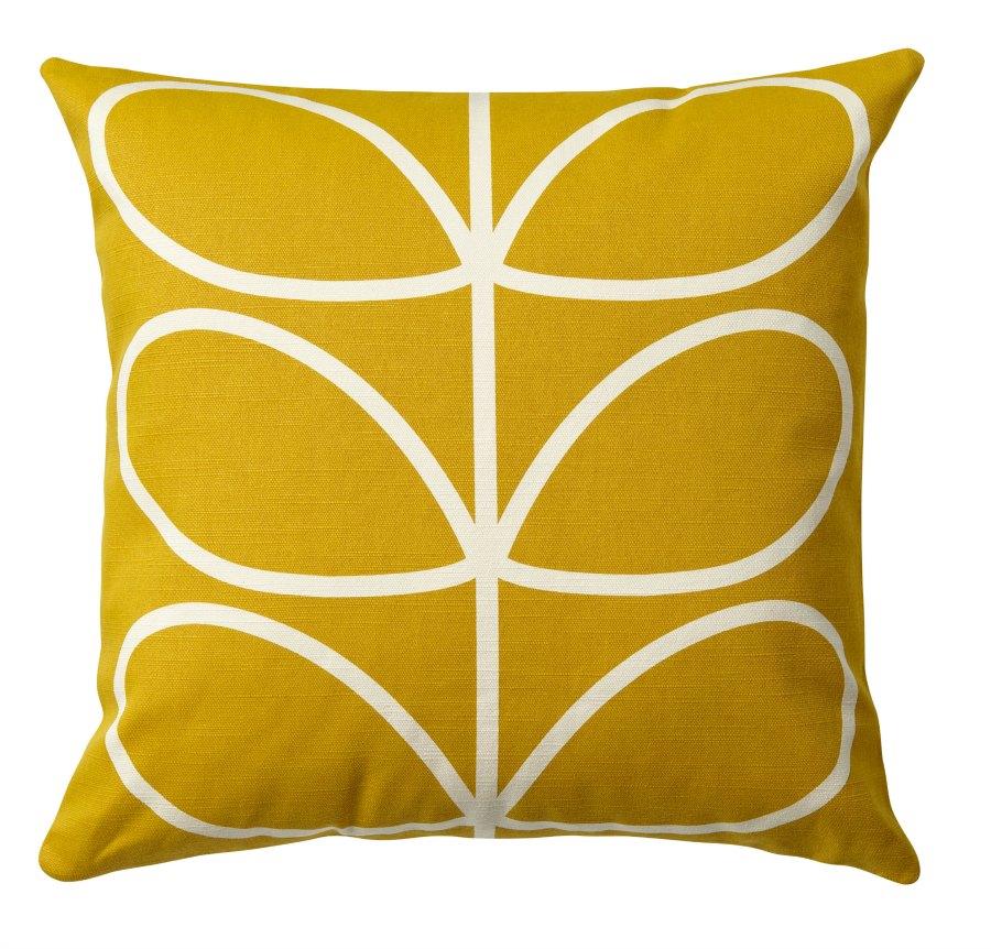 Printed cushion linear stem sunflower sml