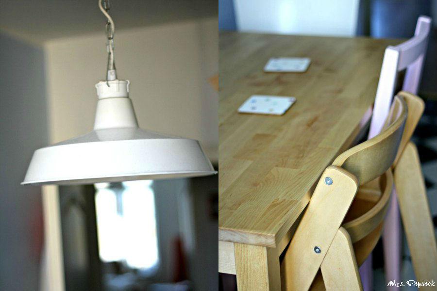 Küchendetails Lampe & Essen