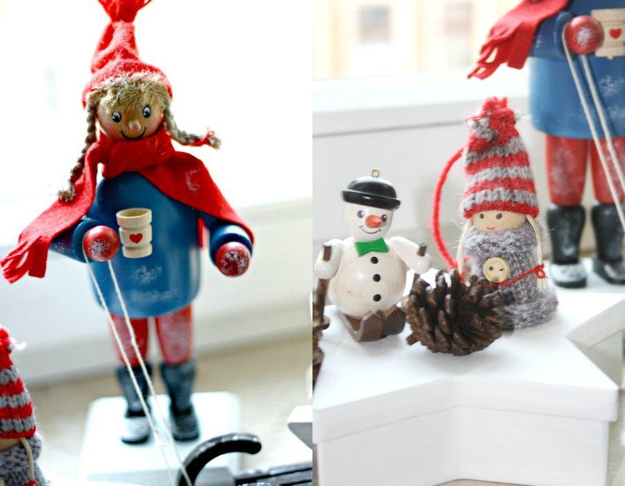 weihnachtsschmuck kiki & schneemann
