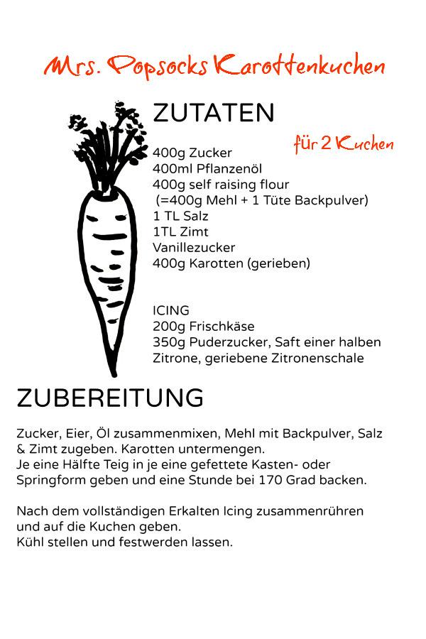 Rezept Karottenkuchen -end