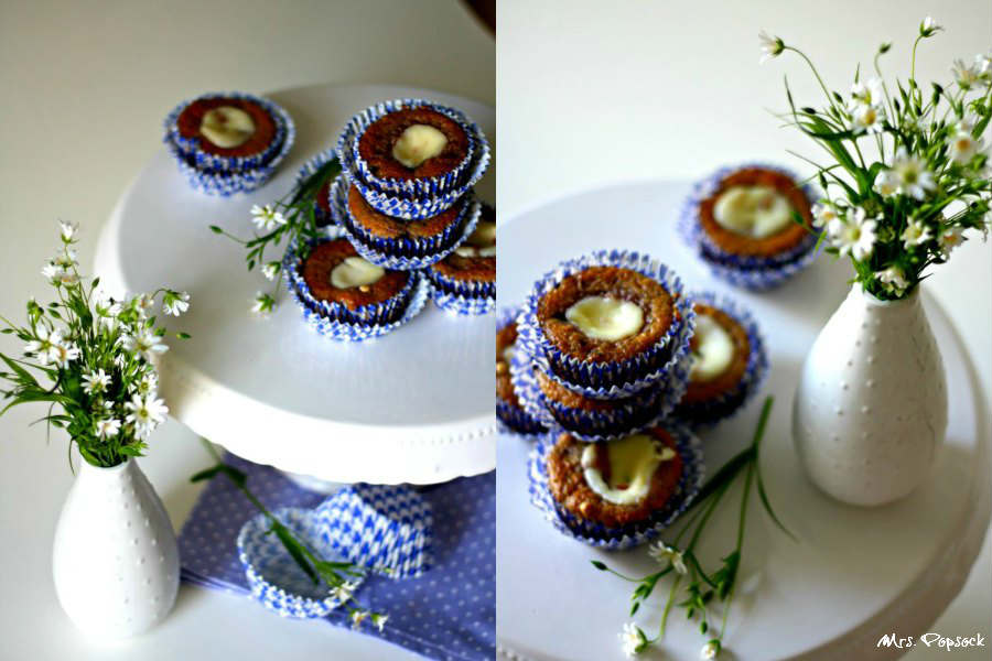 berry chesecake muffins & wiesenblumen