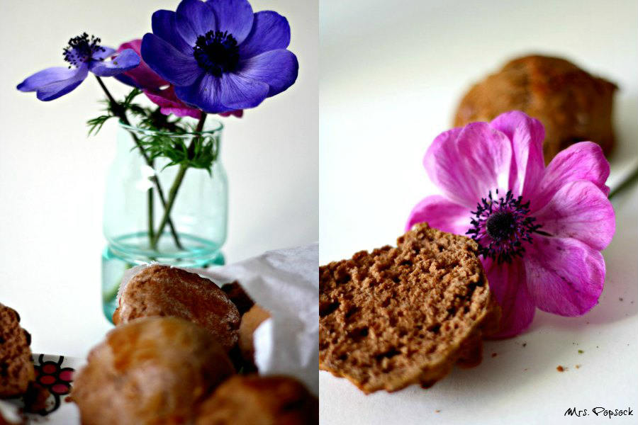 chocolate scones & anemonen