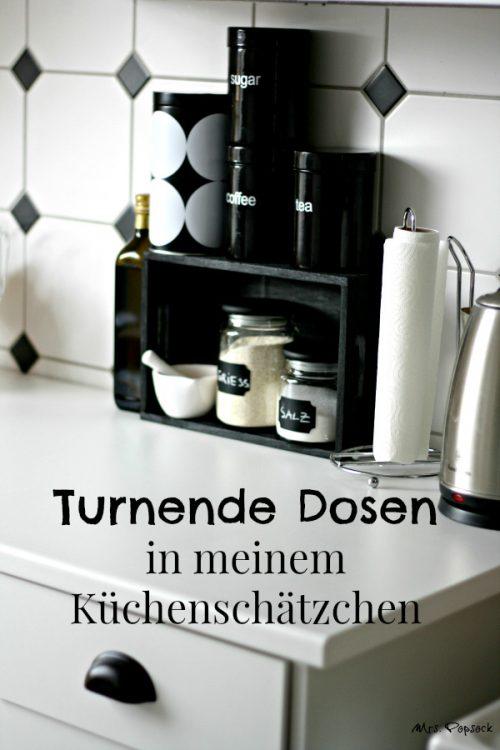 Küchenregal schwarz-tit