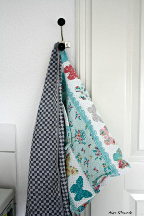 Kleiderhaken als Handtuchhalter
