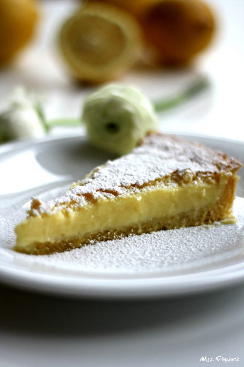 piece of lemon tarte
