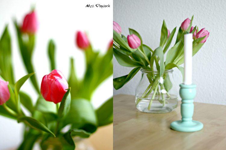 mintfarbener Kerzenständer aus Holz – so hübsch, aber leider no name