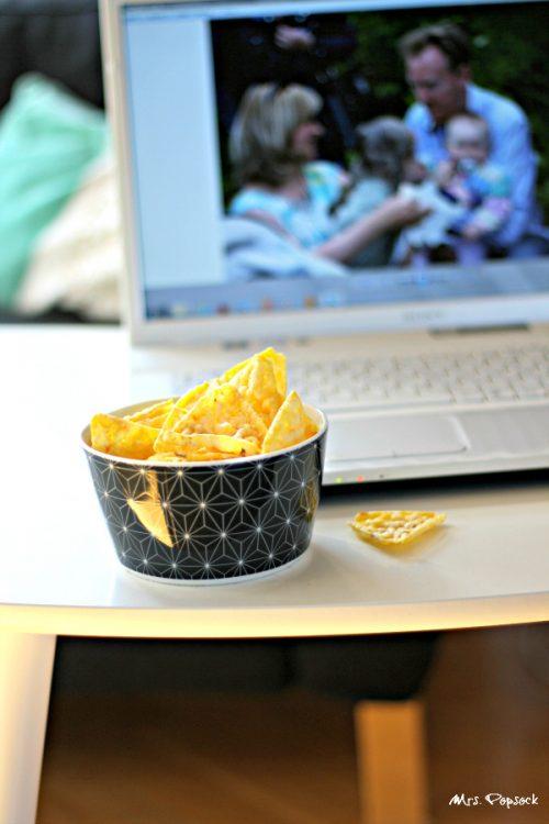 chio popcorners beim film oder bilder gucken