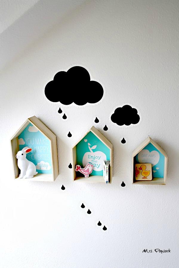 wanddeko Häuser im Regen
