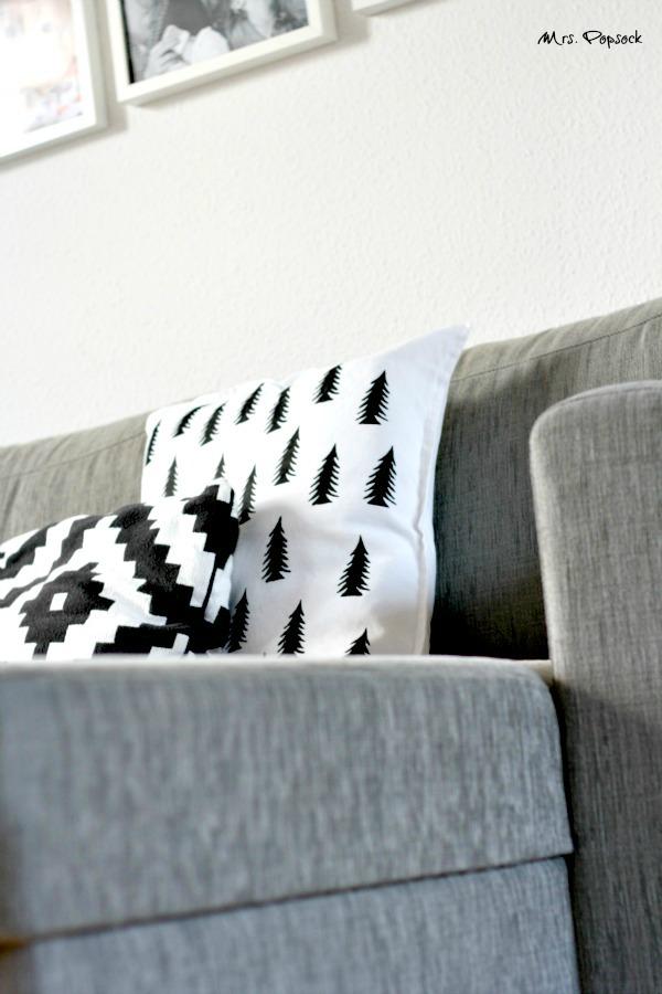 kissen auf der couch