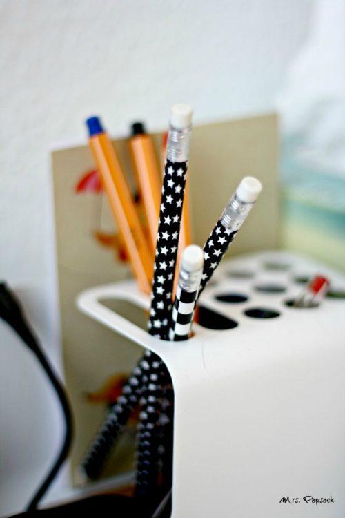 stars & stripes Bleistifte in Schwarz & Weiß